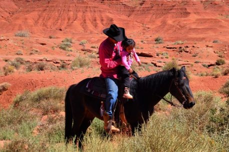 trekking a cavallo con gli Apache
