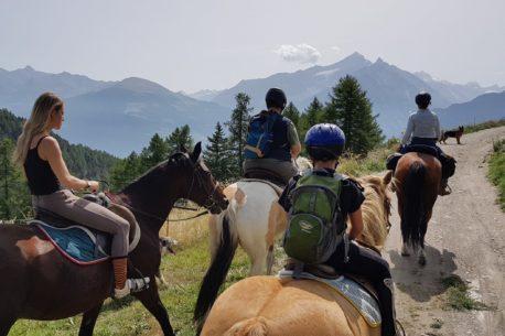 vacanze a cavallo in Val D'Aosta