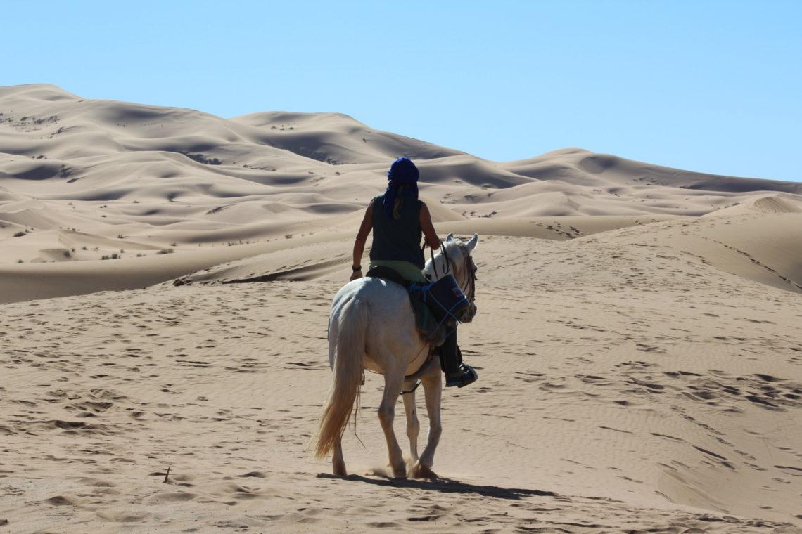 passeggiate a cavallo nel deserto