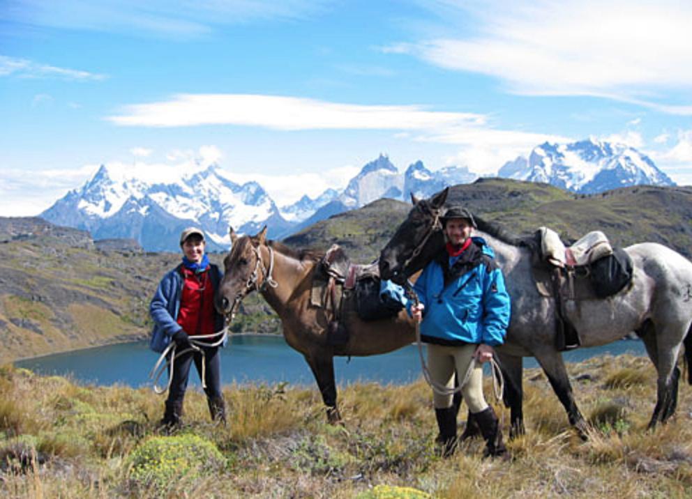 Parco Torres del Paine a cavallo.
