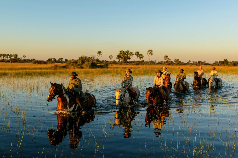 Safari a cavallo in Botswana